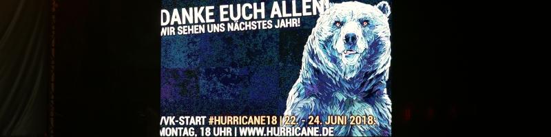 Hurricane-Vorverkauf startet heute