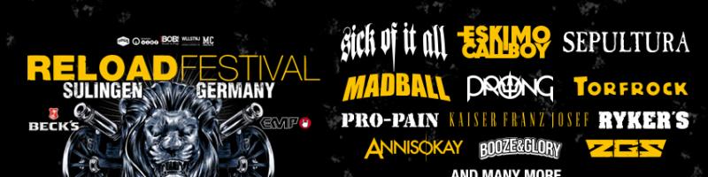 Reload Festival 2018: die ersten Bands