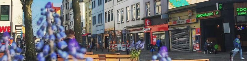 Ziegenmarkt im Bremer Viertel.