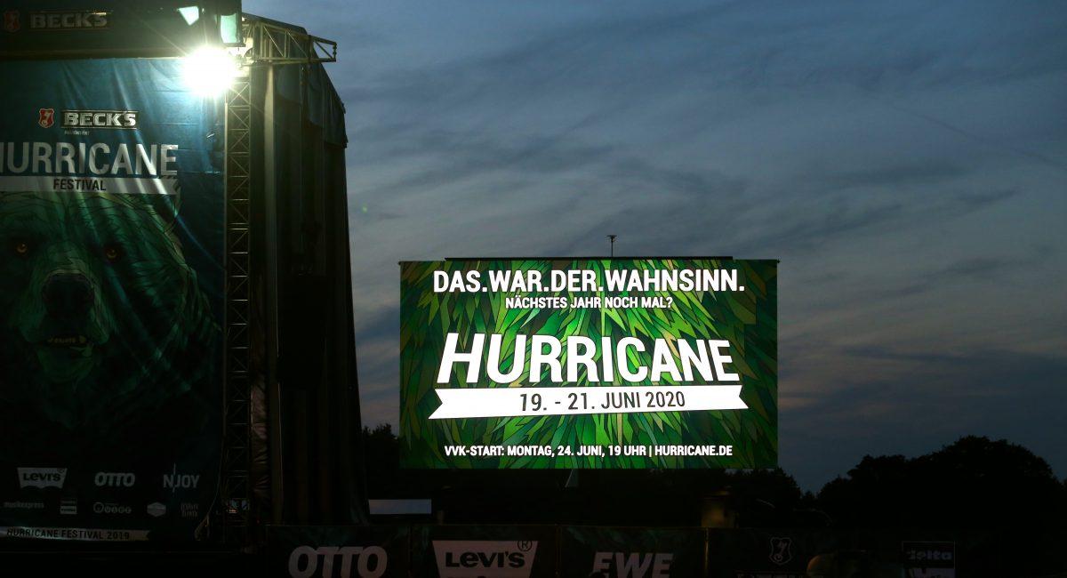 Hurricane Festival 2020 Hurricane gibt Headliner für 2020 bekannt und startet Vorverkauf