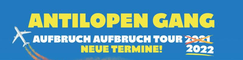 """Antilopen Gang greift 2022 mit großer """"AUFBRUCH AUFBRUCH""""-Tour an"""